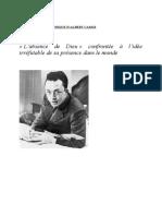 Absence de Dieu Camus