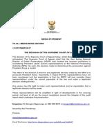 Presidency Statement