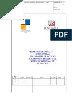Memoria de Calculo de Estructura Metalica Plataforma de Acceso a Camiones Rev 04