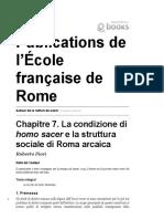 Fiori - La condizione di homo sacer e la struttura sociale di Roma arcaica.pdf
