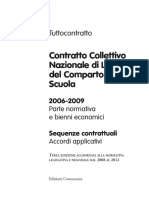 Ccnl Scuola 2006 2009 Sequenze Contrattuali Aggiornato Al Maggio 2012