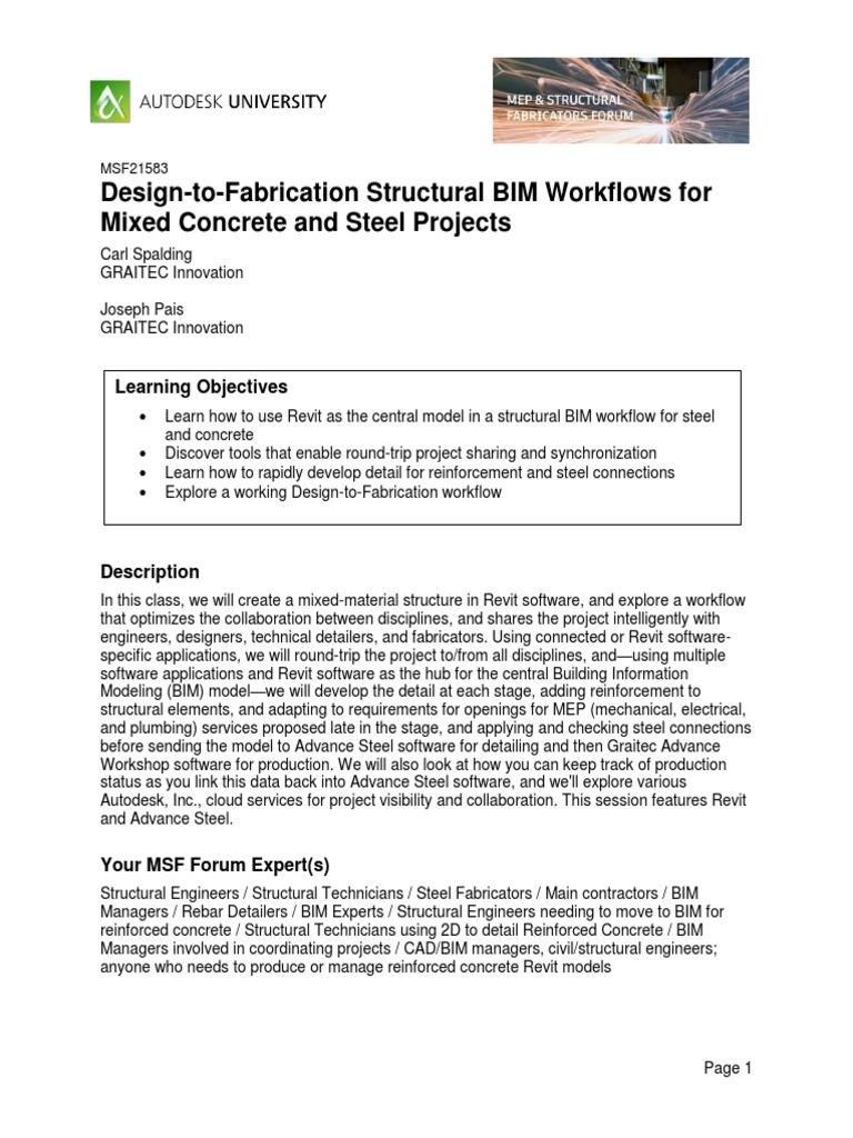 Handout_21583_MSF21583-DeBIM Sign-To-Fabrication Structural BIM