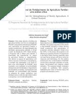 O Programa Nacional de Fortalecimento Da Agricultura Familiar