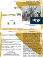 IIFórumTerritorialEducaçãoContextualizadadaBaciadoJacuípe_Folder_Convite