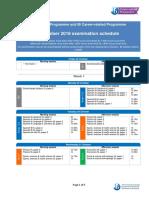 IB Nov 2018 Exam Schedule