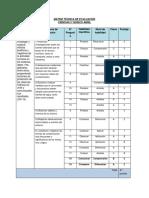 Matriz de evaluación Ciencias Naturales 5° Abril