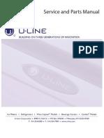 U-Line Refrigerator Service Manual