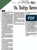 Right On, Rodrigo Barnes
