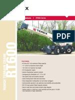 Catalogo TEREX RT600 Series