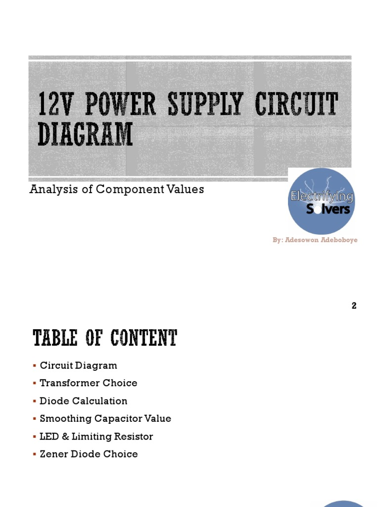 12v Power Supply Circuit Diagram Rectifier Light Emitting Diode Mediumvoltage Switchgear Switching Of Capacitors And Filter Circuits