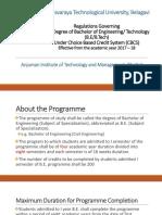 VTU New Regulations for B.E. (2017 CBCS Scheme)