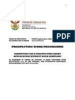 Mineral Prospecting Work Programme