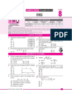 Imo Sample Paper Class-8