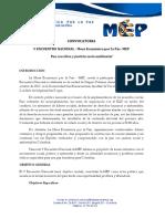 Carta Invitación V Encuentro Nal.