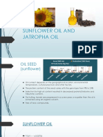 Sunflower Oil and Jatropha Oil