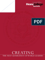 Carnegie Mellon University Brochure - Creating the Next Generation of World Leadres