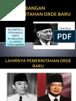 Perkembangan Pemerintahan Orde Baru