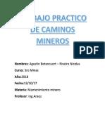 Trabajo Practico de Caminos Mineros