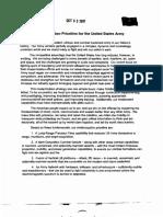 Modernization Priorities for the U.S. Army