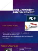 History and Evolution of Engineering Management
