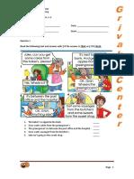2013 Junior b Class Final Test a Term Smileys Coursebook Units 1 3 Key