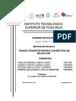 BANDA TRANSPORTADORA CON MÉTODO DE SELECCIÓN