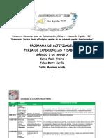 Programacion Feria de Experiencias Saberes 5 de agosto- final.pdf