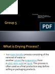 Drying Process Ppt. Amen