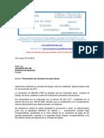 Formato Carta Terminación de Contrato de Trabajo a Termino Indefinido