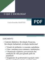 Aula Martins - o Que é Sociologia