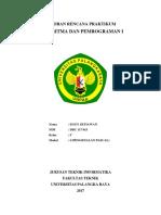 Laporan Rencana Praktikum Algoritma Dan Pemrogram i