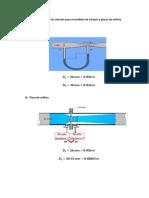Ecuaciones Utilizadas en Los Cálculos Para El Medidor de Venturi y Placas de Orificio