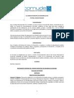 Reglamento COMUDE 1.4