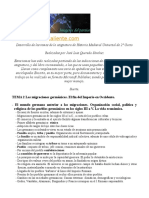 Temario Oposiciones Geografia e Historia-Medieval I