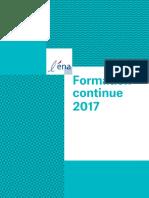 Ena Catalogue Fomation Continue 2017
