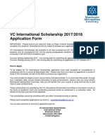 VC Scholarship Application Form 2017 2018