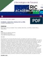 Ecopapel a base del cogollo de la piña | Aguilar | Revista de Iniciación Científica