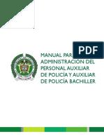 Manual Para La Administración Del Personal Auxiliar de Policía y Auxiliar de Policía Bachiller