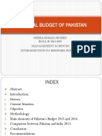 Financial Budget of Pakistan