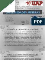 ENFERMEDADES OCUPACIONALES (MINERAS)