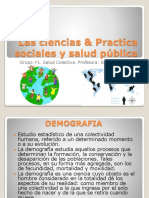 Las Ciencias & Practica Sociales y Salud Pública