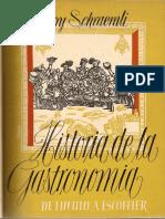 009- Historia de La Gastronomia de Harry Schraemli de 1952