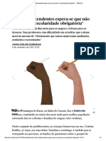 """Dos afrodescendentes espera-se que não passem _da escolaridade obrigatória"""" - PÚBLICO"""