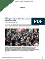 """Portugal terá um """"terceiro género"""" no bilhete de identidade_ – Observador"""