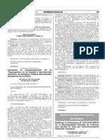 Ratifican la Ordenanza N° 010-2017-MDCH de la Municipalidad Distrital de Chancay que aprobó la Tasa por Estacionamiento Vehicular Temporal