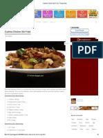 Cashew Chicken Stir-Fried - Recipe Book