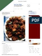 Andhra Chicken Fry - Recipe Book
