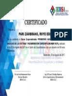 PRIMEROS AUX Por Imprimir Certificados