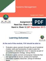 UC3F1706 SAM Assignment Details