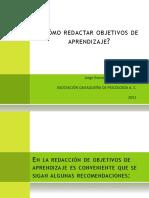 como_redactar_objetivos_de_aprendizaje.ppt